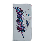 Feather Pattern Card Stand Leather Case for iPhone 6/6S