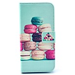 Colorful Macaroon Pattern PU Leather Stand Case Cover with Card Slot for iPhone 6/6S 4.7 Inch