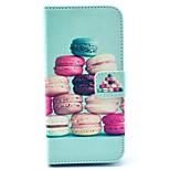patrón de macarrones de colores de la PU del soporte del cuero cubierta de la caja con ranura para tarjeta para el iphone 6 / 6s 4,7