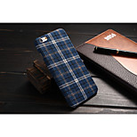 PU Grid Cloth Art Back Shell Korea and Common Classic British the Wind Mobile phone Case for iPhone6S/6 Assorted Color