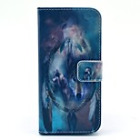 Wolves and Circle PU Leather Stand Case Cover with Card Slot for iPhone 6/6S 4.7 Inch