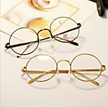 [Free Lenses]  Acetate/Plastic Round Full-Rim Classic / Retro/Vintage / Fashion Prescription Eyeglasses