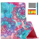 lexy® patrón tótem colorido de la PU del tirón del cuero Caso del soporte con protector de pantalla y la aguja para el ipad de aire 2 /
