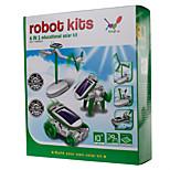 lygf juguete solar herramienta de bricolaje 6-en-1 juguetes verde / azul