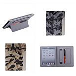 ultrafino estilo camuflaje estuche de cuero de moda fresco con tarjeta de cinturón de la caja del sostenedor para ipad aire 2 / ipad 6