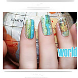2Pcs  Foreign Hot Water Transfer Stamps Manicure Nail Stickers Stickers Manicure Traffic Map