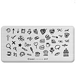 1Pcs  Manicure Printing Plate Manicure Rectangular Hot Stamp Tool 8