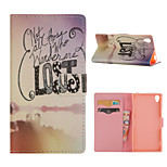 Letter Pattern Card Stand Leather Case for Sony Xperia Z3/Z4