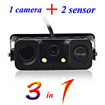 3 in 1 Parking Sensor with Rearview Camera /Universal Type