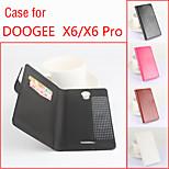 aleta de couro estojo de proteção magnética para doogee x6 / x6 pro (cores sortidas)