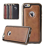 Men Luxury Retro Vintage Business PU Leather + TPU Phone Case for iPhone 6 6S 4.7 Inch with Hole Coque