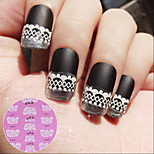 15pcs 3D French Lace Nail Stickers