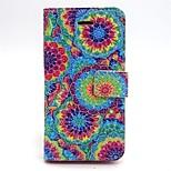 colorido desenho grão pérola ou padrão pu caso da aleta de couro para iPhone 5 / 5s