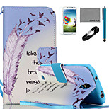COCO FUN® Learn To Fly Pattern PU Leather Case with V8 USB Cable, Flim, Stylus and Stand for Samsung Galaxy S4 I9500