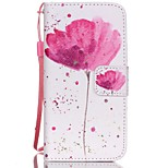 HZBYC®Classic Flowers Pattern PU Material Card Lanyard Case for iPhone 5C