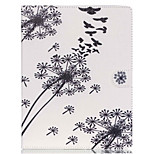 The Dandelion Pattern PU Leather Case with Stand and Card Holder for iPad Air