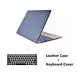 Fashion Leatherette top Surface Hard Shell Case Cover+ Keyboard Cover for Macbook  Air 11