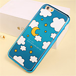 Cartoon Star Pattern Plating TPU Phone Case for iPhone 5/5S