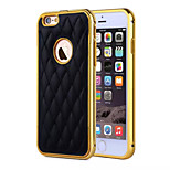 HZBYC® New Lambskin Luxury Leather Lines Genuine Leather Metal TPU Integrated Frame Case for Apple iPhone 6/6S