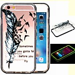 2-in-1 Let The Dream Fly Pattern TPU Back Cover with PC Bumper Shockproof Soft Case for iPhone 6/6S