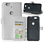 Crazy Horse Flip PU Leather Stand Case Cover with Card Slots for Huawei Nexus 6P (Assorted Color)