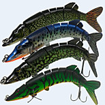 4pcs/lot Hard Bait 66 g 1 pcs 200*40*30  8 Section  Pike Articial Swimbait Fishing Hook Sea Fishing Lure