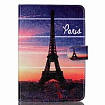 Iron tower  Pattern PU Leather Full Body Case with Stand for iPad Mini 3/2/1