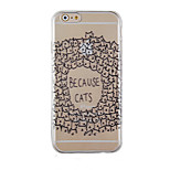 Animal Black Pattern Transparent Phone Case Back Cover Case for iPhone6/6S