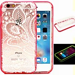 2-in-1 The Phoenix Feather Pattern TPU Back Cover with PC Bumper Shockproof Soft Case for iPhone 6/6S