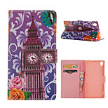 Bell Tower Pattern Card Stand Leather Case for Sony Xperia Z3/Z4