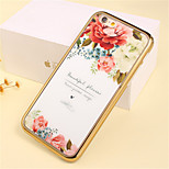 Piece Luxury Flower Pattern Plating TPU Phone Case for iPhone 6/6S