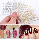 12pcs Nail Pierced Gilt Nail Sticker Random Color