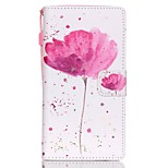 HZBYC®Classic Flowers Pattern PU Material Card Lanyard Case for Huawei P8 Lite