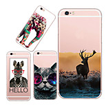 MAYCARI®Power of Savagery Soft Transparent TPU Back Case for iPhone5/iPhone 5S(Assorted Colors)