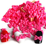 50 / Bag Red Flash Powder Resin Bow Manicure Resin Accessories