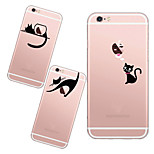 MAYCARI®lazy Cats Soft Transparent TPU Back Case for iPhone 6/iphone 6S(Assorted Colors)