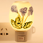 Flower-patterned Ceramic Lamp Night Light Bedside Lamp Fragrance Festival Gift