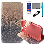 COCO FUN® Golden Sandsl Pattern PU Leather Case with V8 USB Cable, Flim and Stylus for Samsung Galaxy Core Prime G360