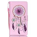 HZBYC®Pink Campanula Pattern PU Material Card Lanyard Case for Huawei P8 Lite