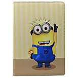 Comedy Small Yellow People Pattern PU Leather Case with Stand and Card Slot for iPad Air2/iPad 6