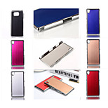 Wiredrawing High Quality Plating Golden PC+ PU Leather Material Phone shell For Xperia Z1mini/ Z3mini/Z1/Z3/Z4/M4/M2