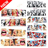 6Pcs Marilyn Monroe Foreign Trade Explosion Nail Stickers Stickers Manicure Watermark Stickers 6 Mixed Models