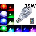 MORSEN Lâmpada Redonda Controle Remoto / Decorativa E26/E27 15 W 1000 LM RGB K RGB 5 LED Integrado 1 pç AC 85-265 V B