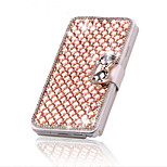 Luxury Bling Crystal & Diamond Leather Flip Bag For iPhone 5/5S (Assorted Colors)