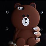 pouca resistência queda de urso caso super-Meng bonito impermeável telefone celular de silicone para iPhone 5 / 5s