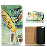 Special Design Coloured Drawing or Pattern Graphic Wallet Cases with Stand Full Body Cases for iPhone 5/5S