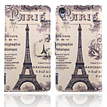 Paris Iron Tower Pattern Card Stand Leather Case for Sony Xperia Z3/Z4/E3/E4/T3