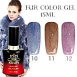 1PCS KOUYI Fur Color Gel 12Colors 15ml Long Lasting Nail Polish 10-12