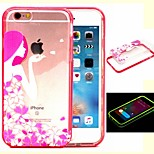 2-in-1 Apple Girl Pattern TPU Back Cover with PC Bumper Shockproof Soft Case for iPhone 6/6S