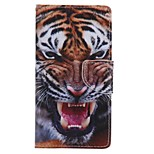 Tiger Painted PU Phone Case for Huawei P8 Lite/P8